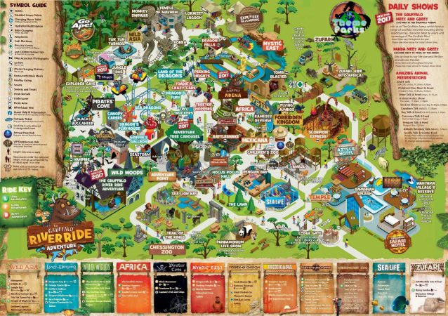 Chessington Map 2017